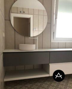baños blanco y negro