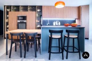 Cocina de Arrital lacado mate seda rosmarino